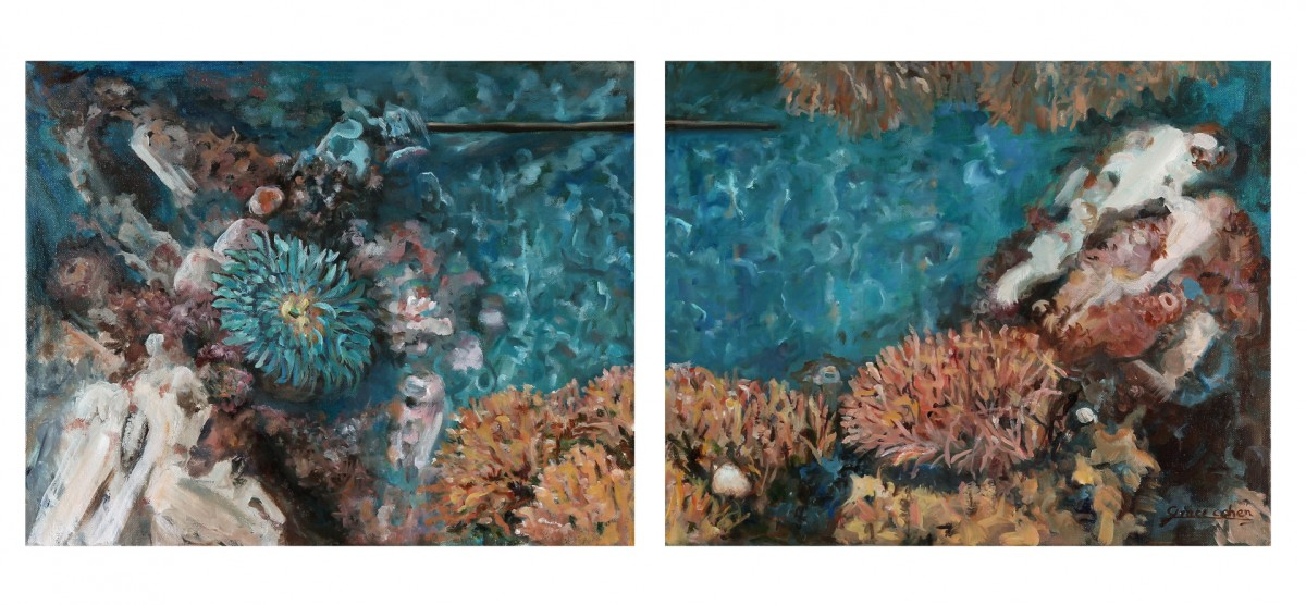 cohen_anemone-and-corals-oil-on-canvas-20-x-16-inch-each